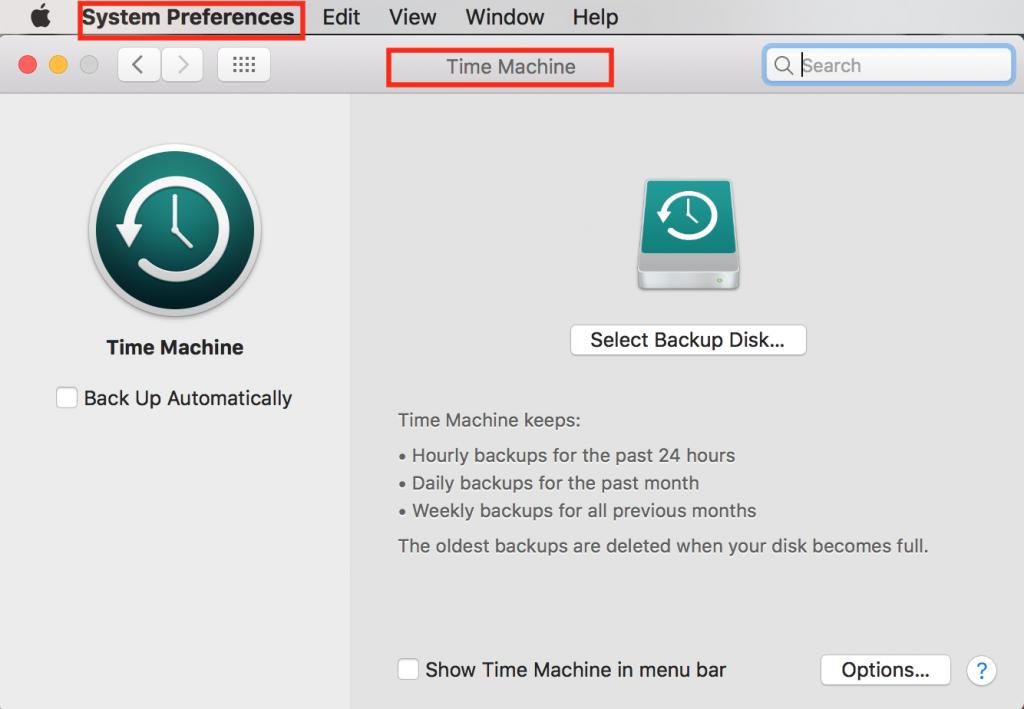 mac time machine